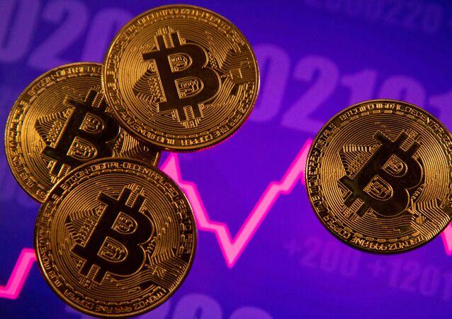 Representação da moeda virtual bitcoin (foto do arquivo)
