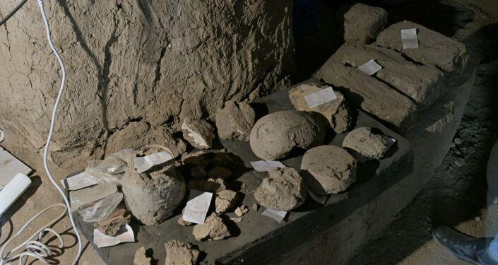 Descobertas arqueológicas nos arredores de Luxor, no Egito, 10 de abril de 2021
