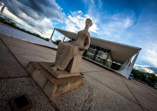 Fachada do prédio do Supremo Tribunal Federal (STF), em Brasília.