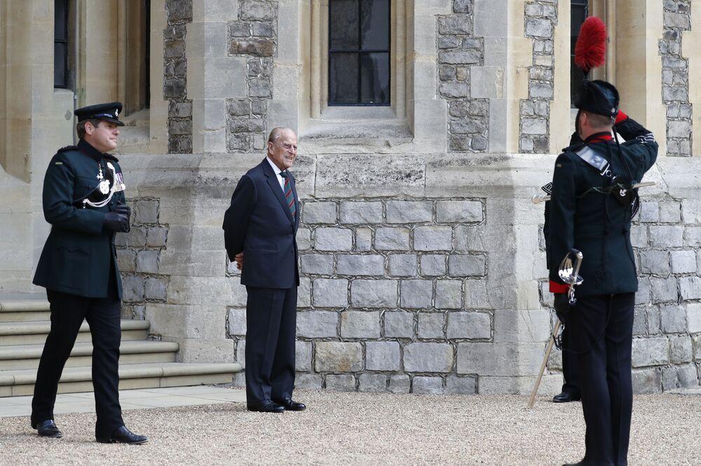 Príncipe Philip participa da transferência do coronel-chefe dos rifles no Castelo de Windsor, 22 de julho de 2020