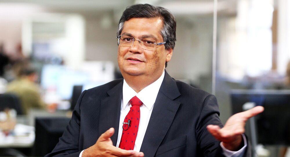O governador do Maranhão, Flávio Dino (PCdoB), durante entrevista.