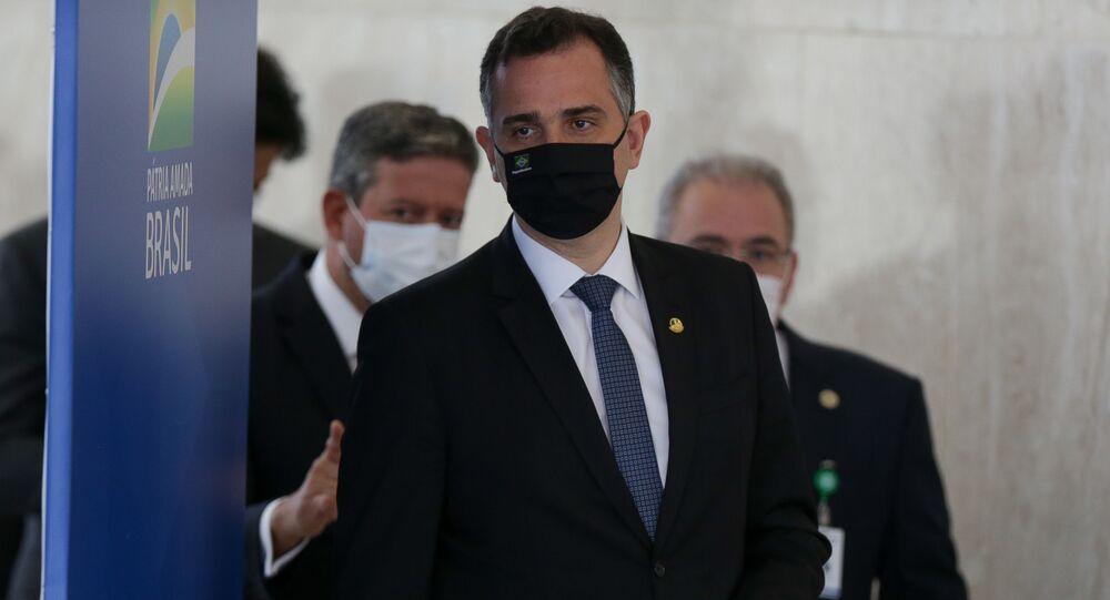 Rodrigo Pacheco, presidente do Senado Federal, no dia 31 de março de 2021