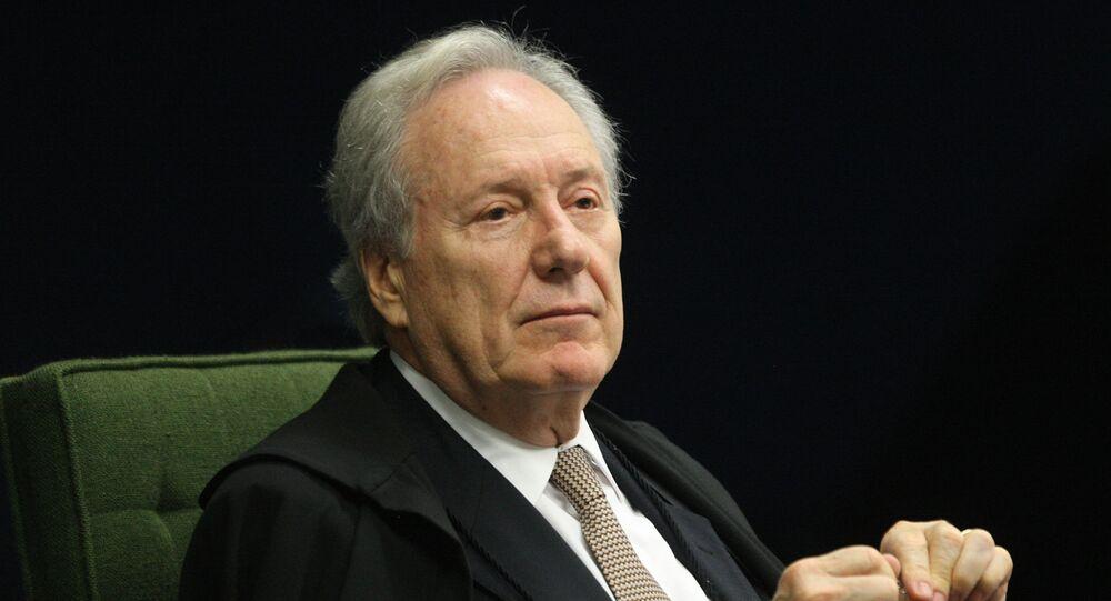 O ministro do Supremo Tribunal Federal (STF) Ricardo Lewandowski, durante sessão do plenário.