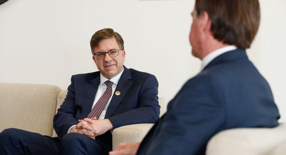 Reunião entre o presidente Jair Bolsonaro e Todd Chapman, embaixador dos Estados Unidos no Brasil.
