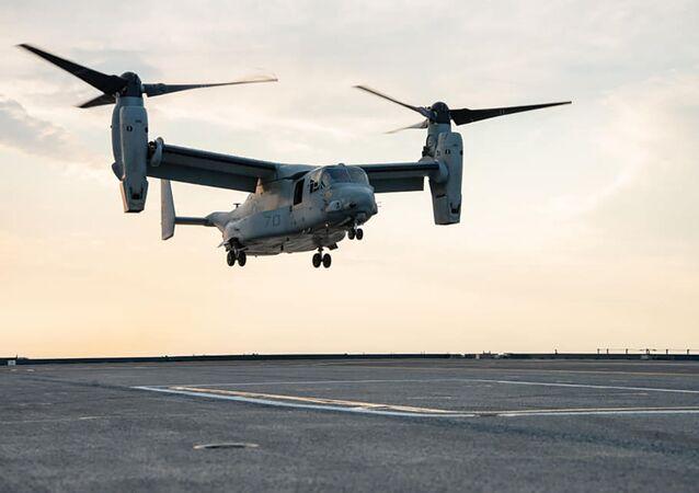 Avião MV-22B Osprey da Marinha dos EUA