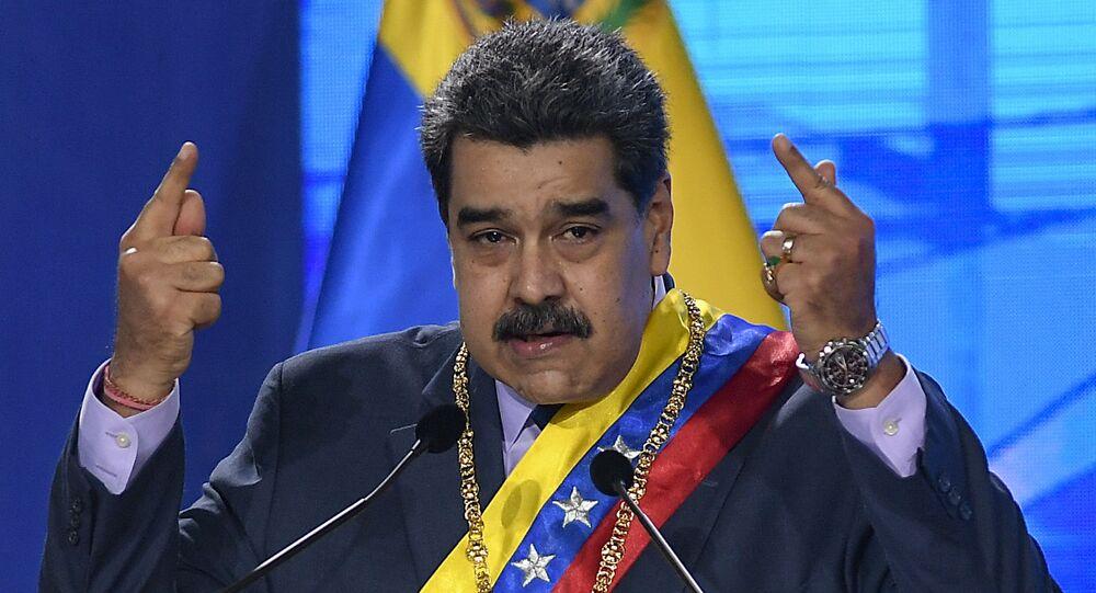 Presidente da Venezuela, Nicolás Maduro, em Caracas, no dia 22 de janeiro de 2021
