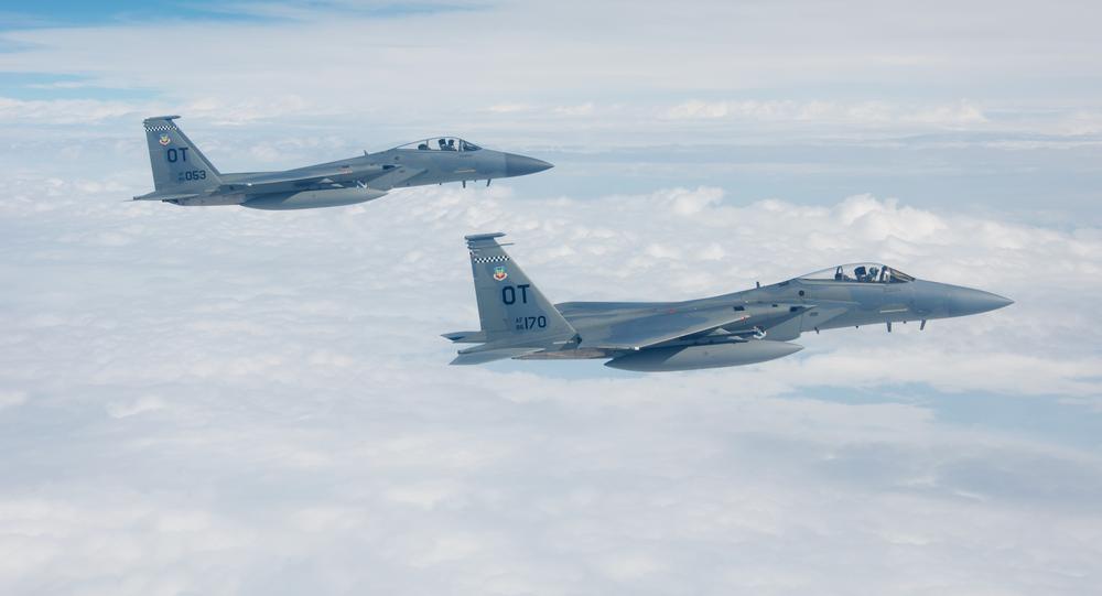 Caças F-15C da Força Aérea dos EUA
