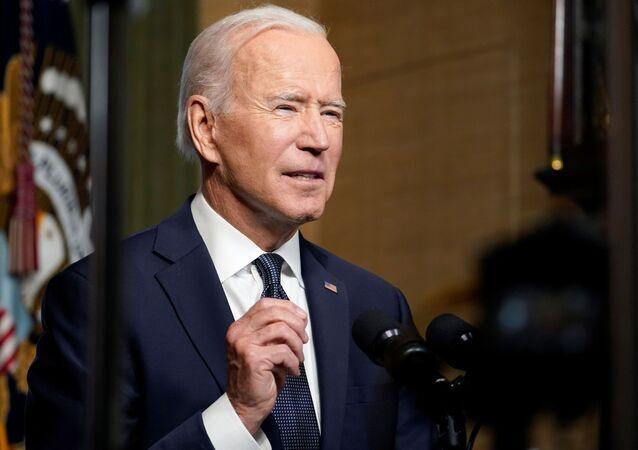 O presidente dos EUA, Joe Biden, fala sobre plano de retirar as tropas americanas do Afeganistão, na Casa Branca, Washington, EUA, em 14 de abril de 2021