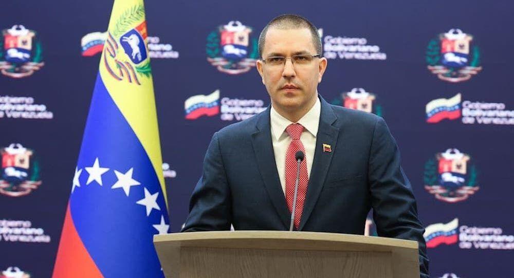 O chanceler venezuelano Jorge Arreaza, em 13 de abril de 2021
