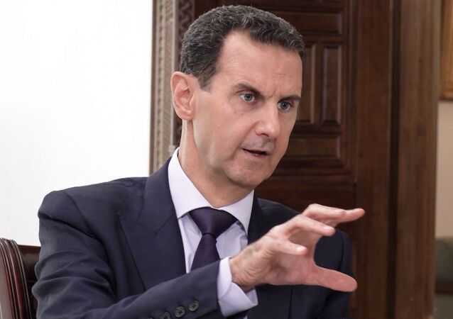 Em Damasco, o presidente da Síria, Bashar Assad, fala durante entrevista à Sputnik, em 6 de outubro de 2020