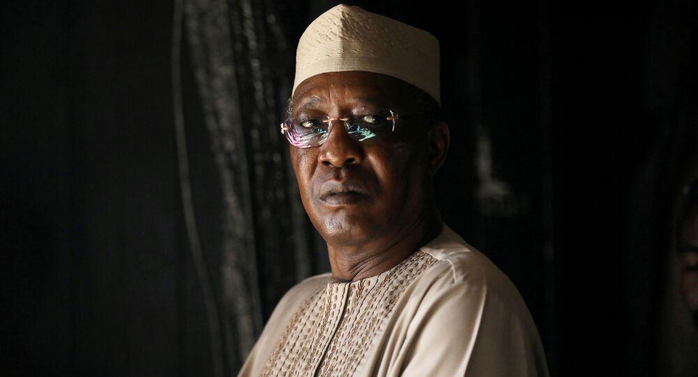 O presidente do Chade, Idriss Déby é reeleito pela sexta vez (foto de arquivo)