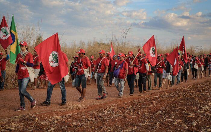 Marcha do MST em defesa da liberdade do ex-presidente Lula, em agosto de 2018