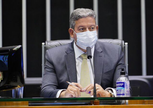 O presidente da Câmara, Arthur Lira (PP - AL), durante sessão plenária.