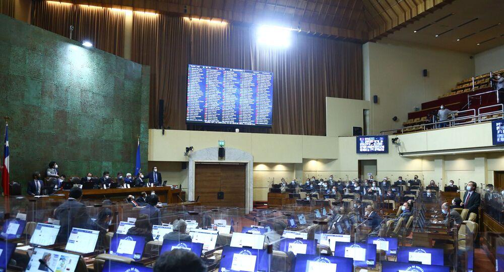 Plenário da Câmara dos Deputados do Chile em Valparaíso
