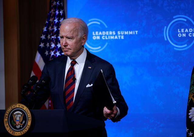 O presidente dos EUA, Joe Biden, participa da Cúpula do Clima em 22 de abril de 2021