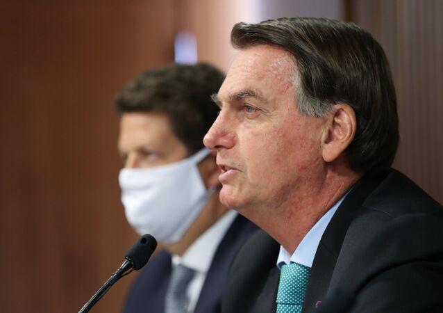 Jair Bolsonaro discursa na Cúpula de Líderes sobre o Clima, no dia 22 de abril de 2021
