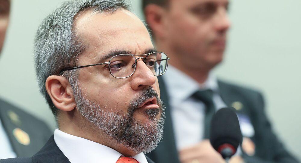 Ex-ministro da Educação Abraham Weintraub