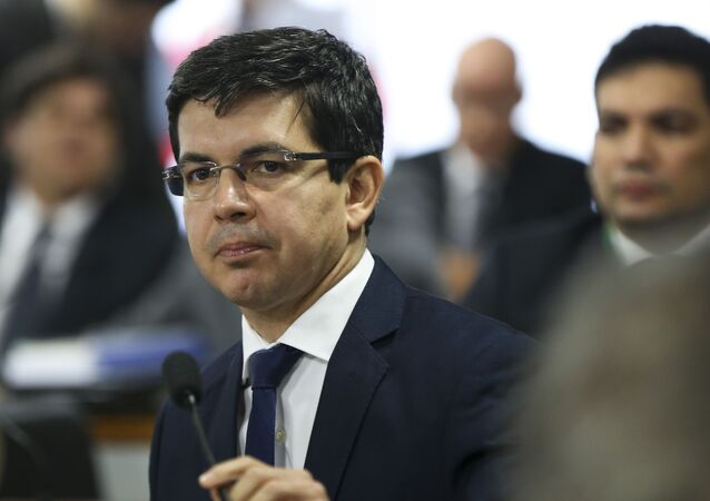 O senador Randolfe Rodrigues (Rede-AP) durante sessão do Conselho de Ética do Senado.