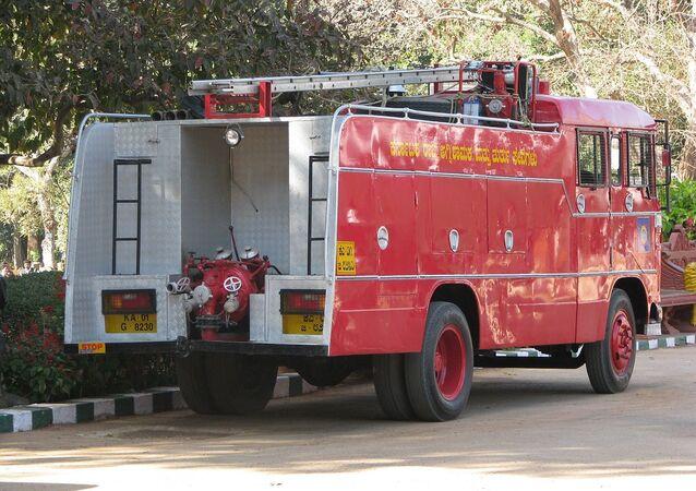 Caminhão dos Bombeiros na Índia (imagem referencial)