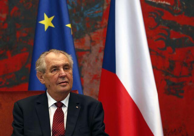 Milos Zeman, presidente da República Tcheca (imagem referencial)