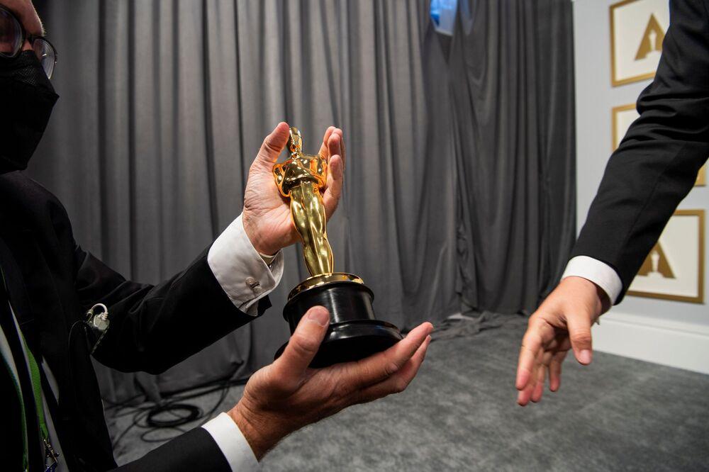 Bastidores da 93ª cerimônia de premiação do Oscar em Los Angeles