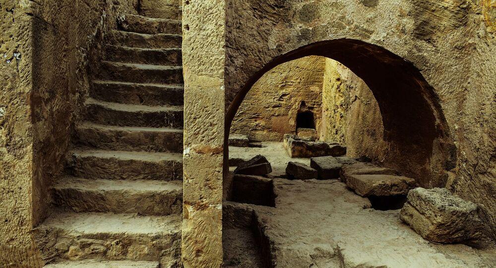 Vila antiga em Roma