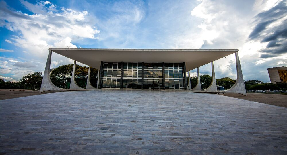 Fachada do prédio do Supremo Tribunal Federal (STF) em Brasília, no Distrito Federal.