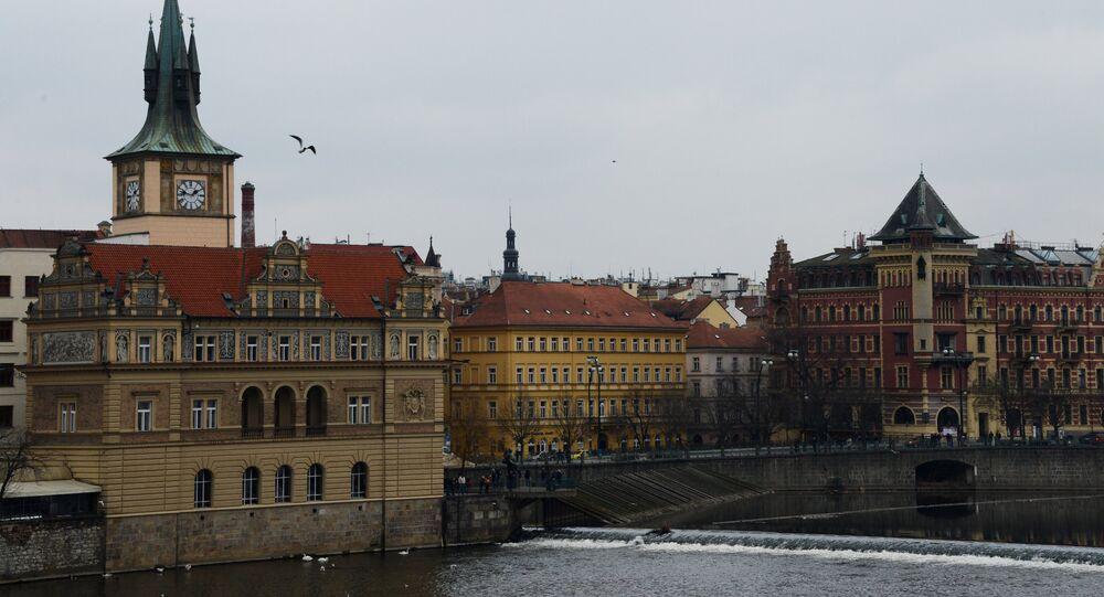 Vista da região de Smetana a  partir da ponte Charles em Praga