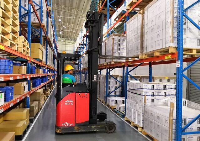 Operação de logística da Arvato, provedora de serviços de cadeia de suprimentos e comércio eletrônico, na China