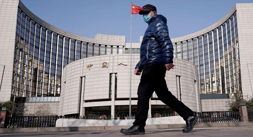 Sede do Banco Popular da China, o banco central do país, em Pequim, China, 3 de fevereiro de 2020