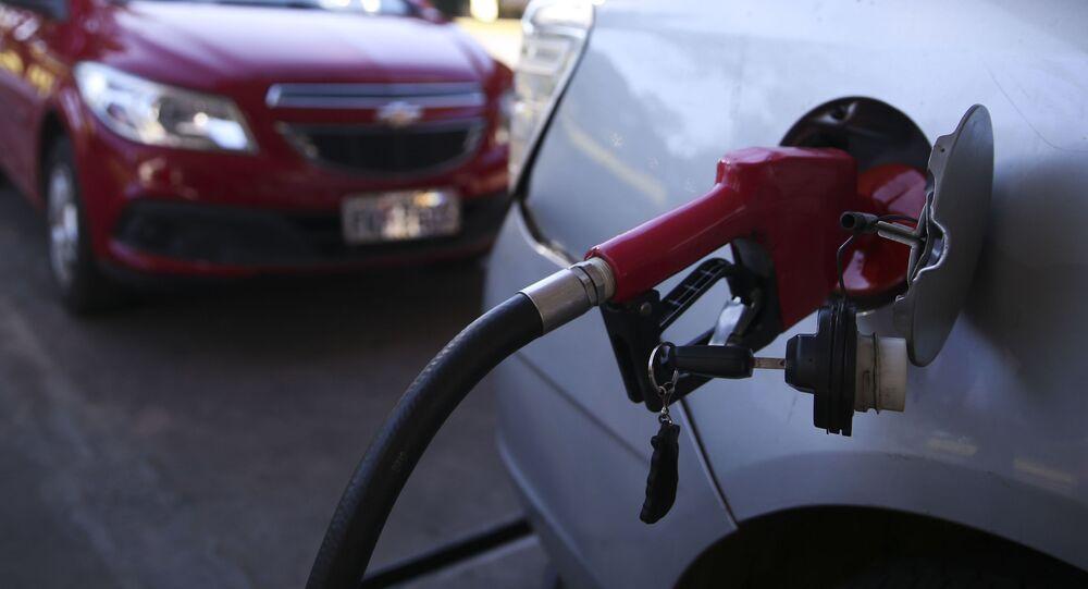 Posto de gasolina em Brasília, no Distrito Federal.