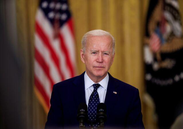 O presidente dos EUA, Joe Biden, na Casa Branca em Washington, EUA, 15 de abril de 2021