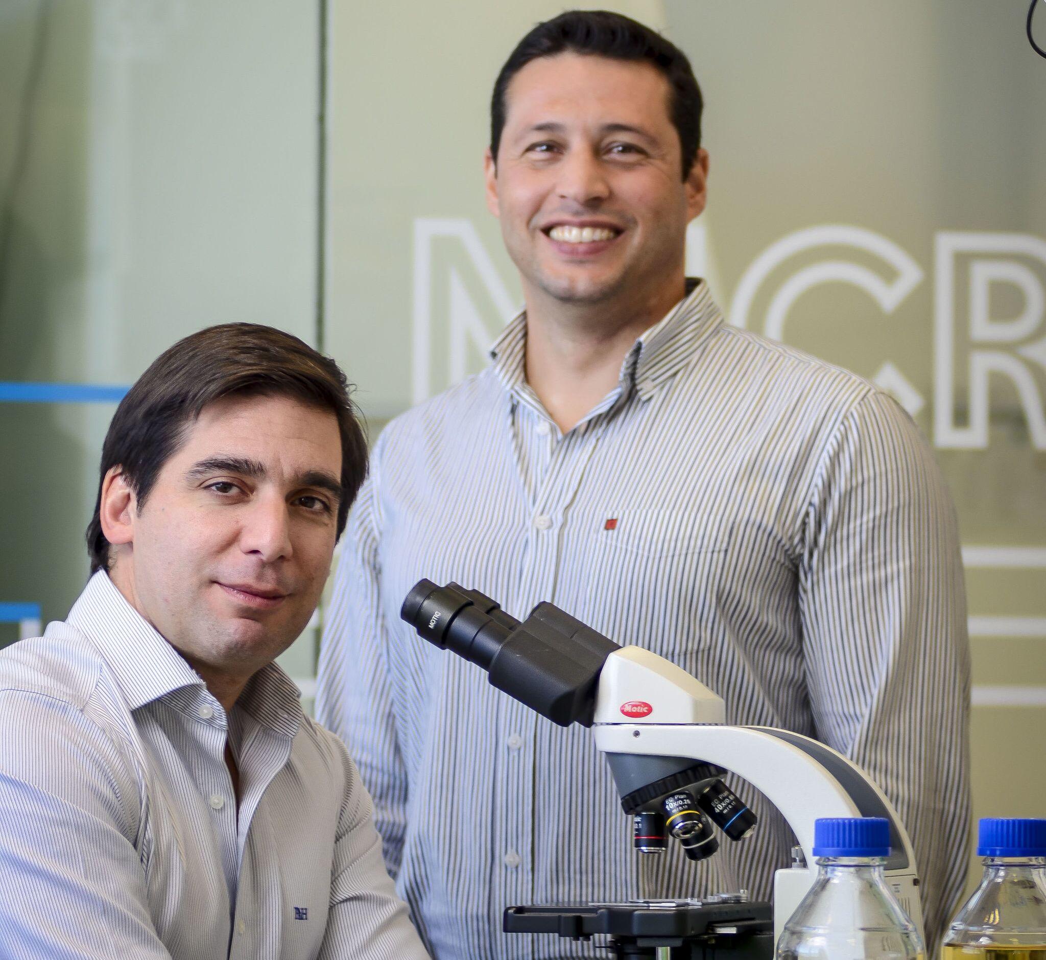 Pedro Madureira e Bruno Santos, co-fundadores da empresa portuguesa Immunethep