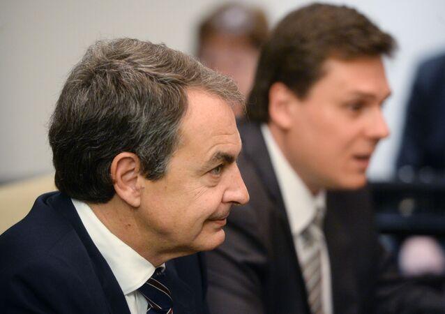 O ex-presidente do Governo da Espanha Jose Luis Rodriguez Zapatero.