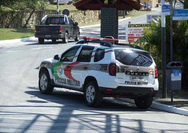 Viatura da Polícia Militar de Santa Catarina na praia das Laranjeiras, em Balneário Camboriú (arquivo)