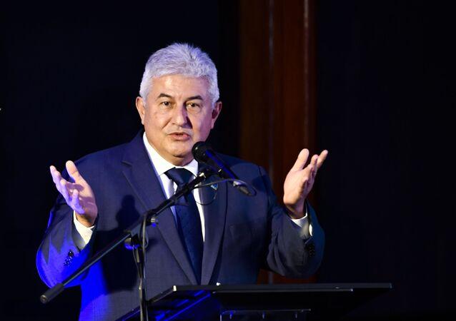Em Brasília, o ministro da Ciência, Tecnologia e Inovações, Marcos Pontes, participa de cerimônia de divulgação das empresas selecionadas para operação do Centro Espacial de Alcântara, em 28 de abril de 2021