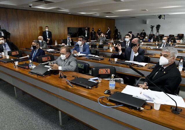 Comissão Parlamentar de Inquérito (CPI) da Covid realiza oitiva do ex-ministro da Saúde Luiz Henrique Mandetta, no dia 4 de maio de 2021