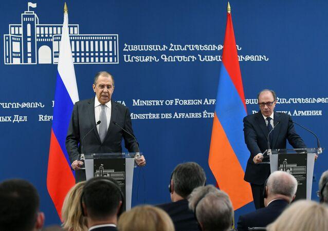 Visita do chanceler russo, Sergei Lavrov, na Armênia, 6 de maio de 2021