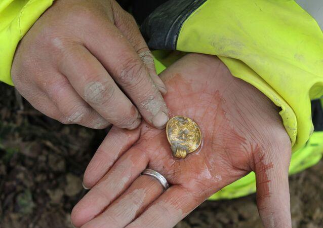 O ouro não se deteriora, mesmo que tenha passado mil anos em solo argiloso. Mas as brácteas de ouro ainda podem ser bastante frágeis. A pureza do ouro é alta, o que o torna macio e fácil de dobrar