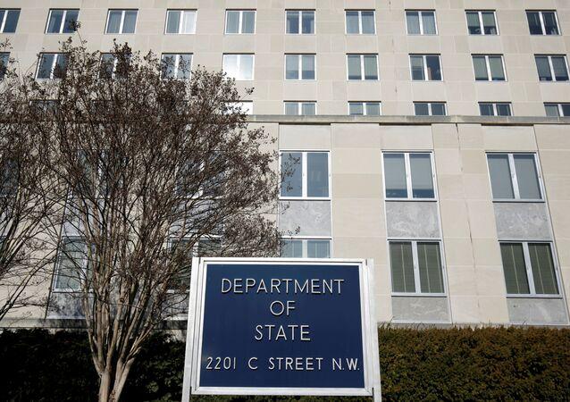 Edifício do Departamento de Estado em Washington, EUA, 26 de janeiro de 2017