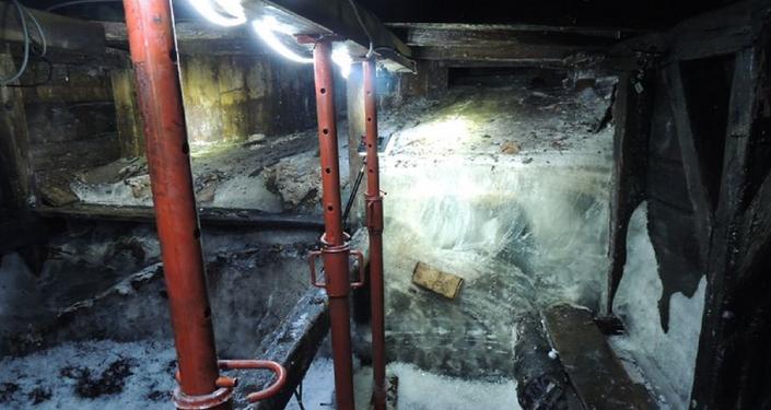Abrigo em uma caverna no norte da Itália