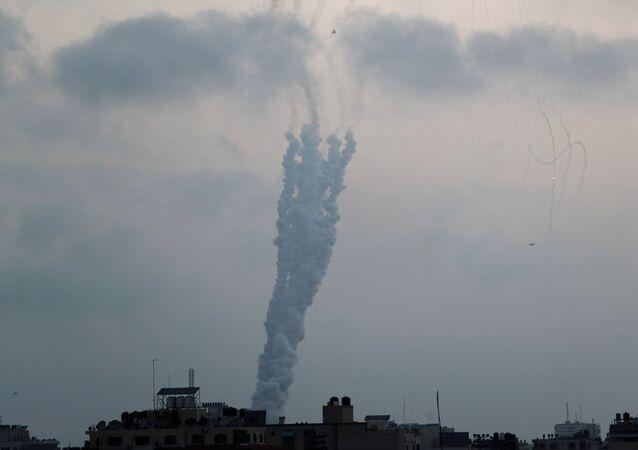 Foguete é lançado de Gaza contra Israel