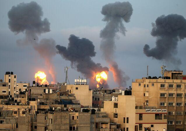 Ataque aéreo israelense contra a Faixa de Gaza