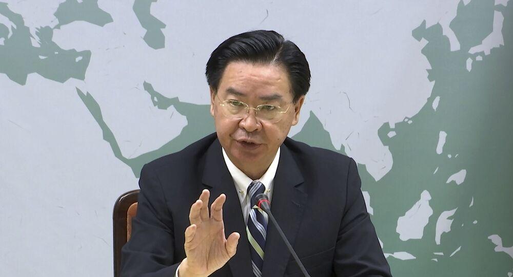 O ministro das Relações Exteriores de Taiwan, Joseph Wu, em 20 de setembro de 2019, em Taipei, Taiwan.