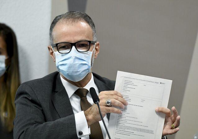 O diretor-presidente da Agência Nacional de Vigilância Sanitária (Anvisa), Antonio Barra Torres, em depoimento na Comissão Parlamentar de Inquérito (CPI) da COVID-19, no dia 11 de maio de 2021