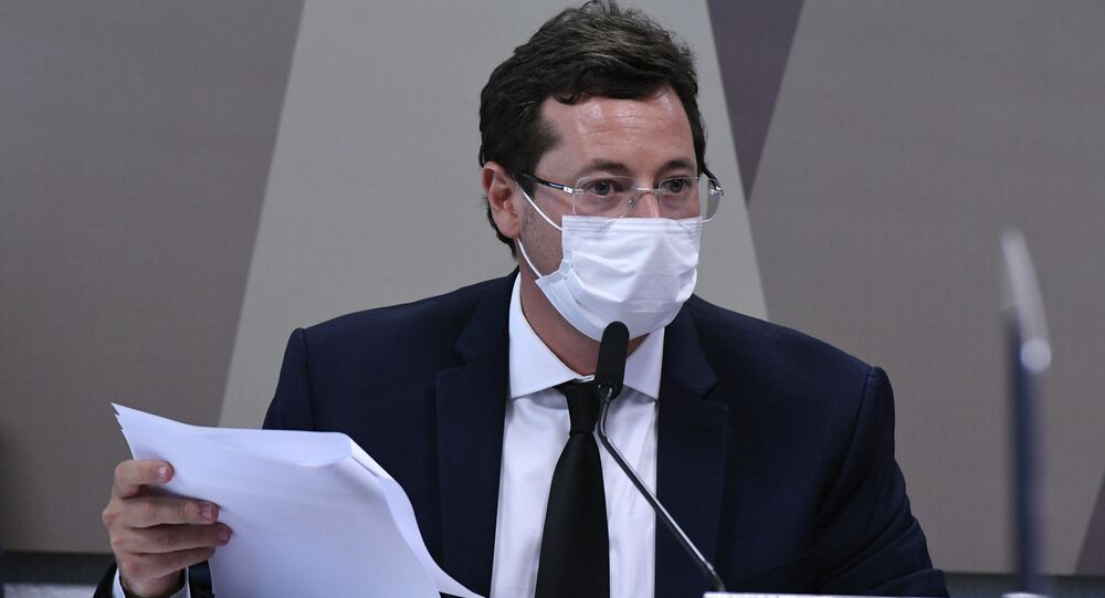 Comissão Parlamentar de Inquérito (CPI) da COVID-19 realiza oitiva do ex-secretário especial de Comunicação Social da Presidência da República Fabio Wajngarten