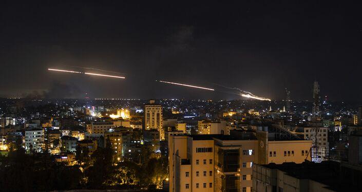 Foguetes disparados em direção a Israel a partir da Cidade de Gaza
