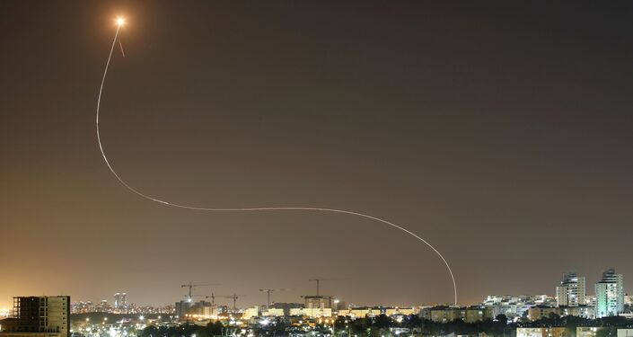 Interceptação de foguetes sobre o território de Israel lançados a partir da Faixa de Gaza