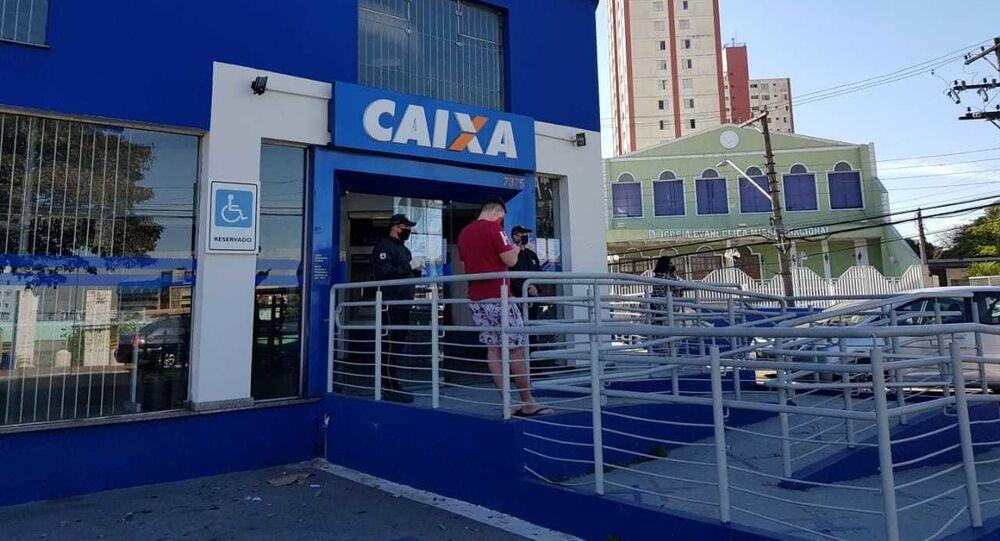 Agência da Caixa Econômica Federal na zona leste de São Paulo (SP)