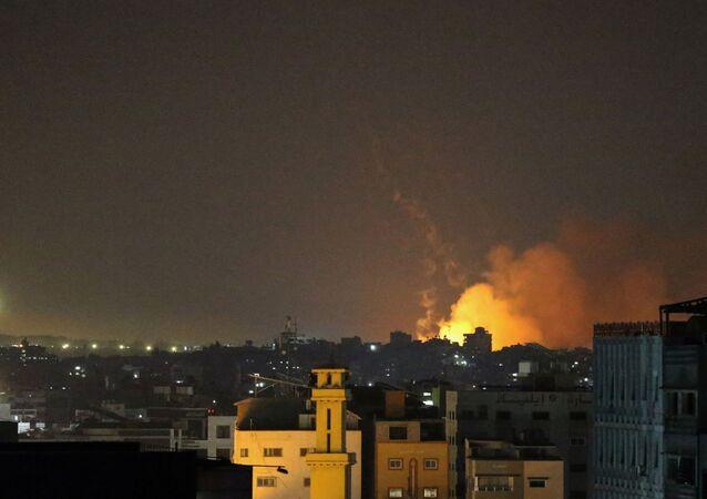 Ataque de Israel contra alvos do Hamas em Gaza